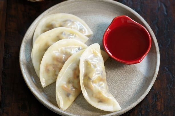Vegetarian dumplings - these are good! made them today