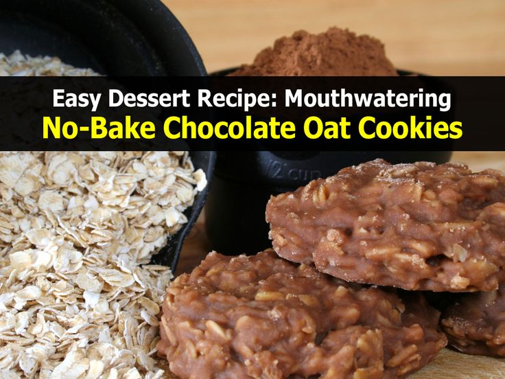 Mouthwatering No-Bake Chocolate Oat Cookies