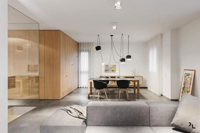 EP minimalist apartment designed by Manca Studio in shades of gray and wooden textures - CAANdesign | Architecture and home design blog