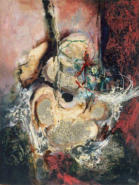 James Gleeson (Australia 21 Nov 1915–20 Oct 2008), Synaptic displacement, 1958 | Oil on canvas.