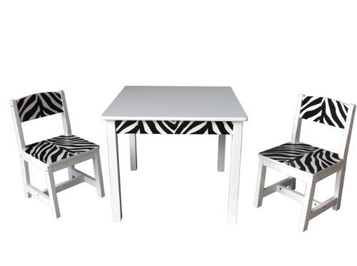 Inskeppa Safari Collection Kidu0027s Wood Zebra Table And Two Chairs. Toddler  Table And Chairs.
