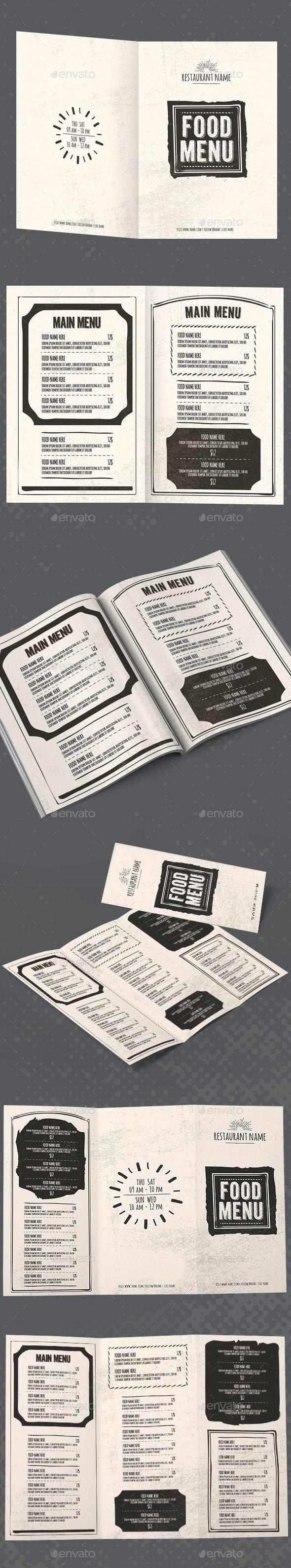 Vintage Restaurant Menu Package