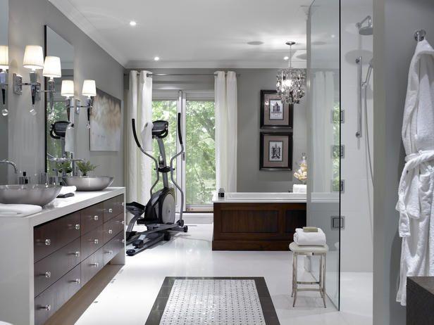 Part Bathroom, Part Gym, Part Spa - Bathroom Renovation Ideas From Candice Olson on HGTV