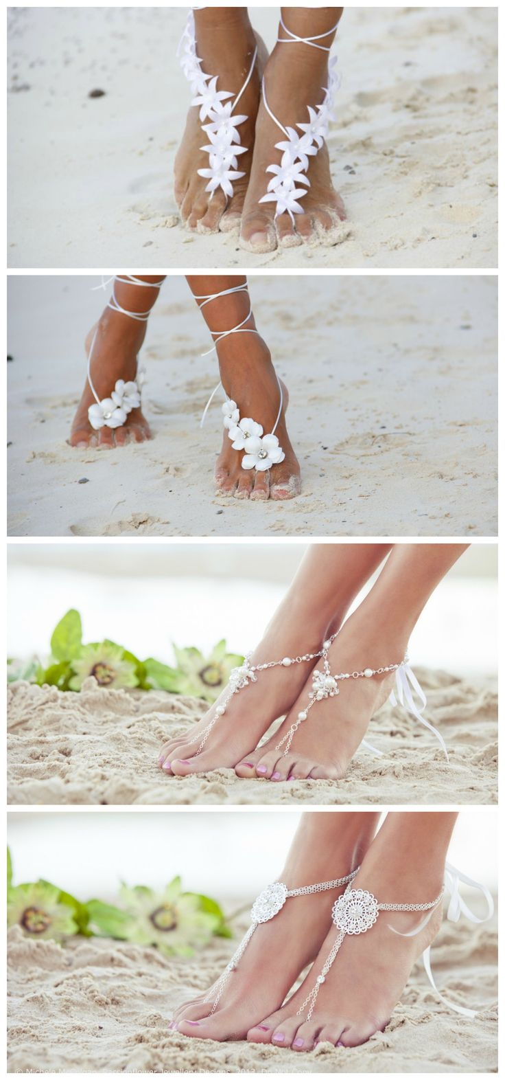 Amazing beach shoes for a beach wedding