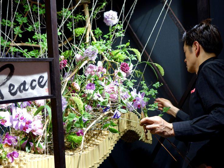 Aritaka Nakamura, Japan Fleurop Interflora World Cup der Floristen 2015, Berlin Foto: Fachverband Deutscher Floristen