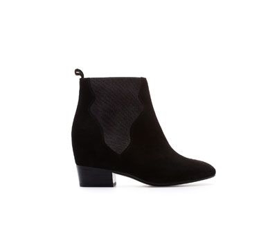 ANKLE BOOTS WITH INTERIOR WEDGE AND ELASTIC PANELS - Ankle boots - Shoes - Woman | ZARA United States