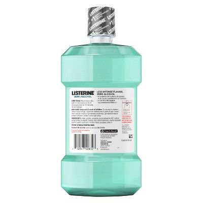 Listerine Zero Clean Mint Mouthwash For Fresh Breath And To Kill Bad Breath Germs - 500ml