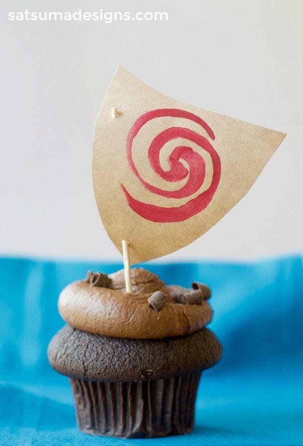 Moana Sailboat Cupcake Toppers – Satsuma Designs