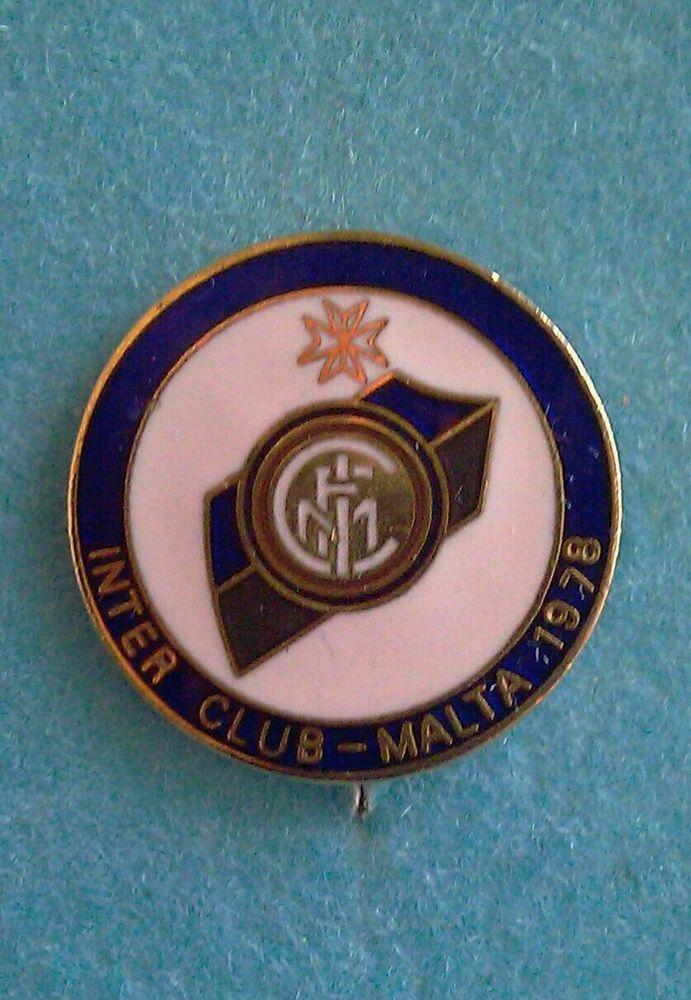 Distintivo Spilla pin badge logo F.C. Inter Club Malta 1978