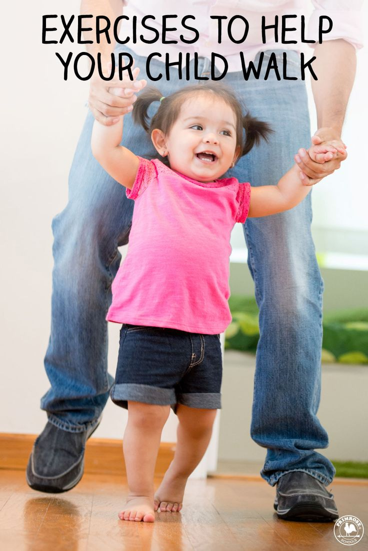5 exercises that help your baby develop the muscles she needs to get on her feet and get walking.