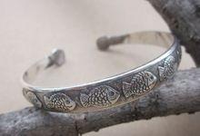 Br140 promoção de peixes do vintage Miao tibetano pulseira de prata pulseira jóias para a mulher(China (Mainland))