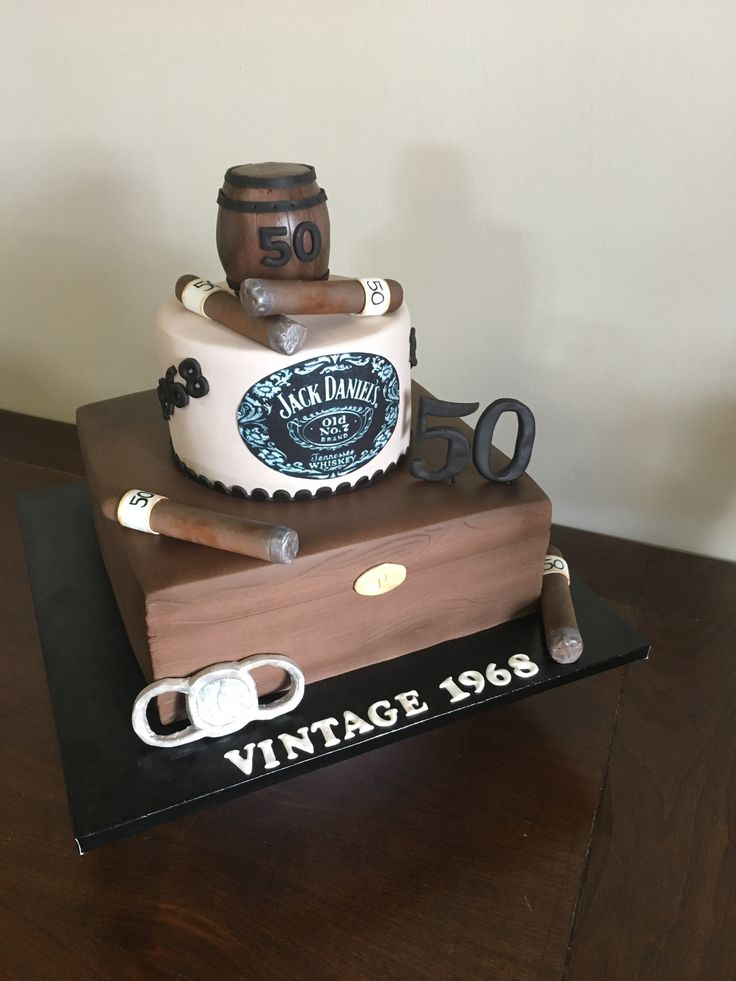 Cigar 50th birthday cake Cake Creations by Leah 50th