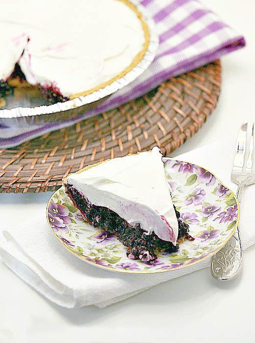 Best pie ever! Blueberry Cream Cheese Pie Low Calorie Low Fat Dessert Recipe