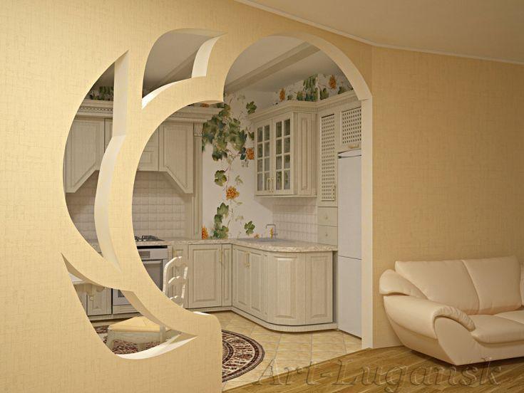 красивые арки из гипсокартона в гостиной фото одноэтажного частного финского
