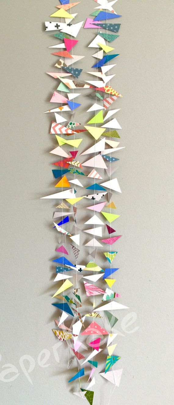 Handcut Geometric Abstract Garland Limited Edition by PaperKake