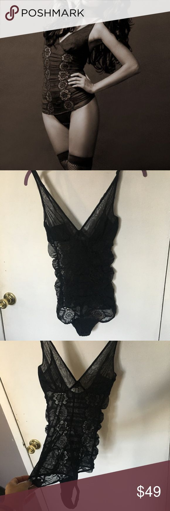 La Perla black mesh bodysuit 36A/B Sexy mesh black bodysuit.  Fits 34/36 - A/B Thong style.  Great condition.   Worn only couple times.  Size Small or Medium. La Perla Intimates & Sleepwear Shapewear