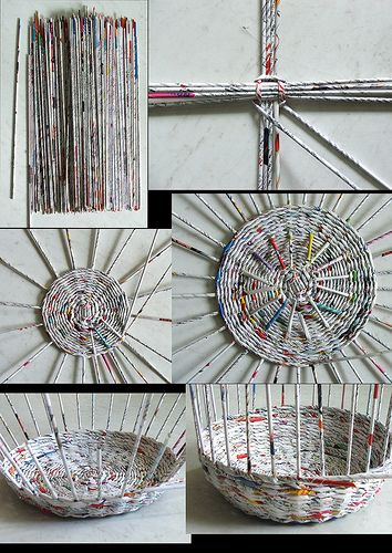 How to make the newspaper baskets.