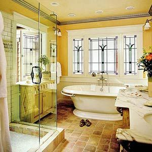 those windows by the tub are beautiful