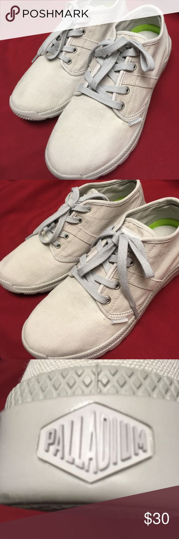 Palladium original canvas size 9 color gray Palladium bran New shoes canvas size 9 never worn color gray Palladium Shoes Sneakers
