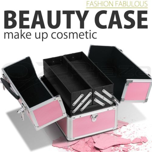 Portable-Travel-Cosmetic-Beauty-Make-Up-Nail-Hair-Carry-Case-Box-Organiser-Pink