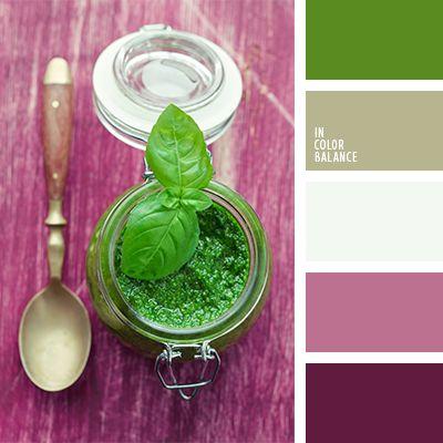 color rosa profundo, color verde albahaca, elección del color para hacer una reforma, lila aberenjenado, lila polvoriento, paletas de diseño, rosado oscuro, rosado y verde, tonos rosados, tonos verdes, verde lechuga y rosado, verde pálido, verde polvoriento, verde vivo y rosado, verde vivo y