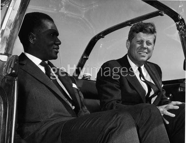 John F. Kennedy with Abraham Bolden, the first black ...
