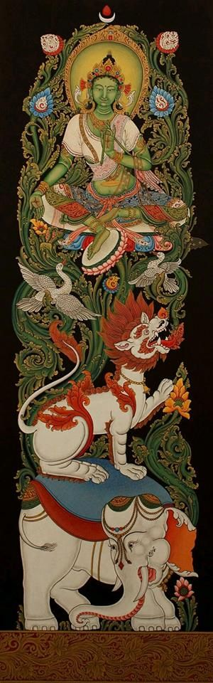 Tibet - Bouddhisme tibétain Tara verte bouddha de la guerison