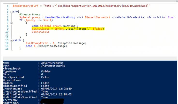 Tip of the Day - Accessing SQL Server Reporting Services Data Using PowerShell