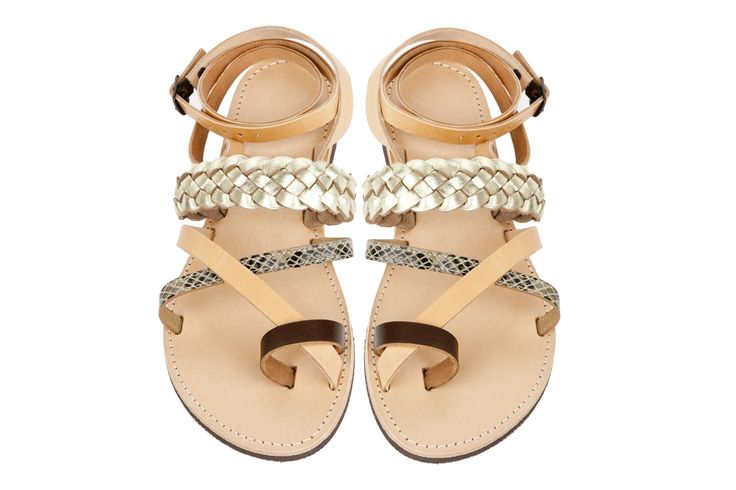 Isapera sandals : Lemonia in Gold