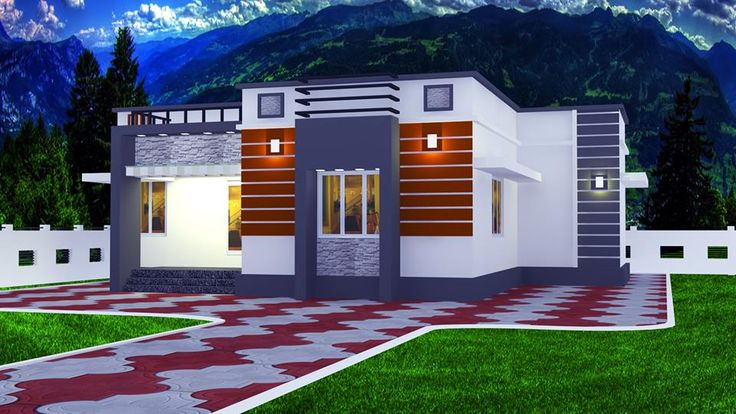 2 Bedroom Low Cost House in Kerala with Plan & Photos, low cost kerala house plans and elevations, low cost houses in kerala in 1200 sq ft, Latest Model Small Plot Low Cost 2 Bedroom House Plan Free
