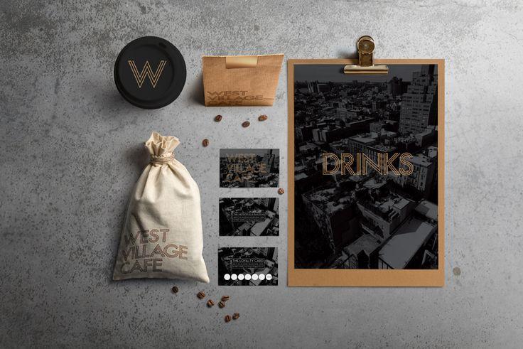 West Village Cafe. Branding and Identity Design.