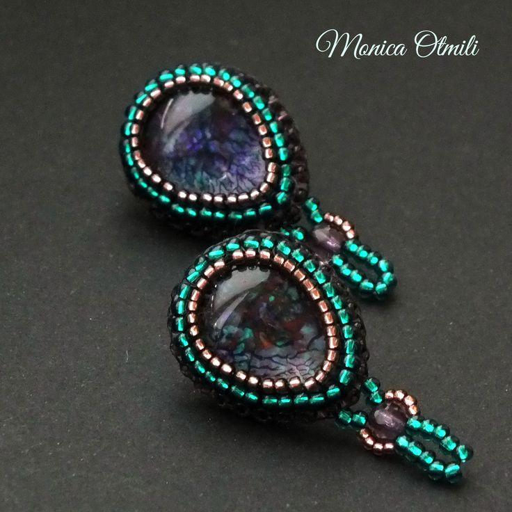 'Ethel' earstuds by Monica Otmili