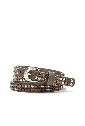 Studded Faux Leather Belt | Forever 21 - 2000116425