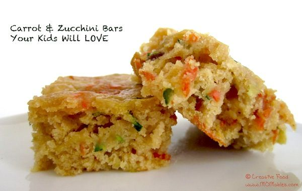 Carrot & Zucchini Bars Your Kids Will LOVE - MOMables® - Real Food Healthy School Lunch & Meal Ideas Kids Will LOVE