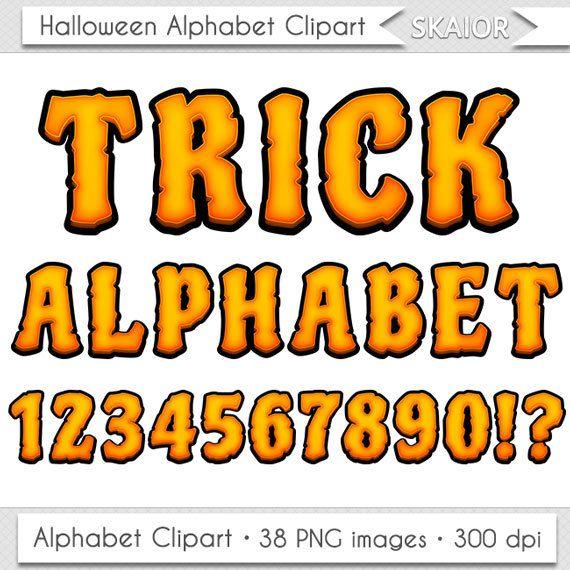 Halloween Alphabet Clipart Zombie Letters Clipart Scrapbooking Halloween…