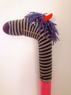 Pool Noodle Horse / hobby horse with a difference (a sock); My handmade Adventure; Never look a gift horse in the mouth.