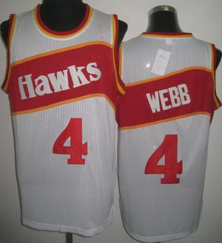 Cheapest Atlanta Hawks 4 Spud Webb White Revolution 30 NBA Jerseys Online