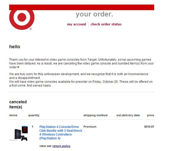 Target Order Cancellation Email Templates Pinterest