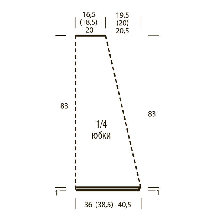 Схема и описание вязания на спицах юбки-макси с рельефным узором из журнала «Сабрина» №12/2015