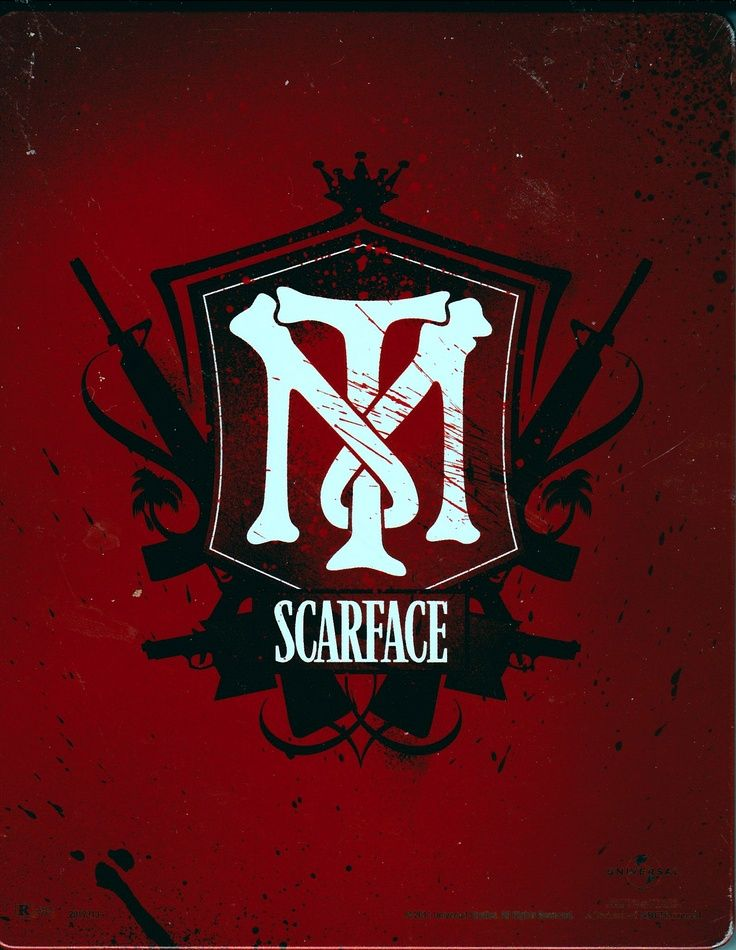 Scarface - Tony Montana logo with the M wrapped around the T #GangsterMovie #GangsterFlick