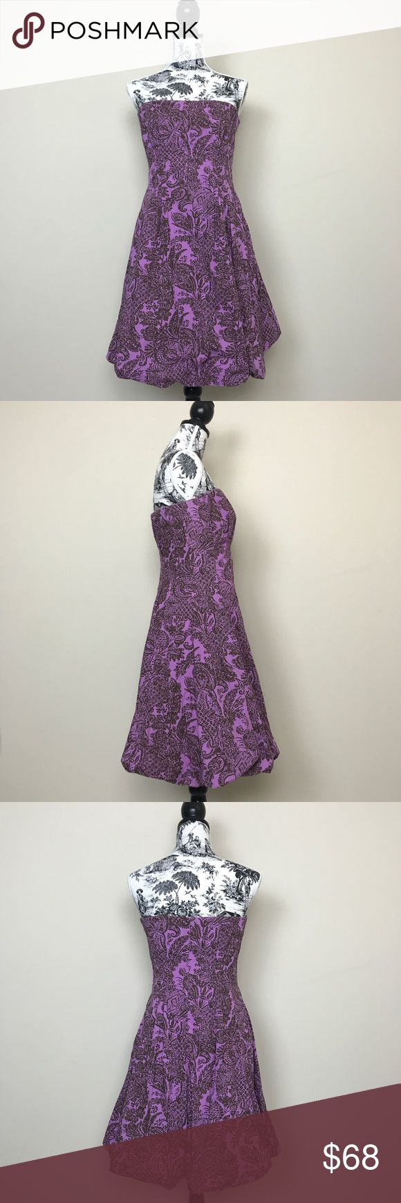 """Anthro Plenty by Tracy Reese Baroque Print Dress Anthropologie Plenty by Tracy Reese strapless baroque print dress. Elastic along the top of the dress and also has built in bustier for extra support. Bubble skirt hemming. Side concealed zipper. Fully lined. 100% cotton. Length 29"""" bust 14"""". Anthropologie Dresses Strapless"""