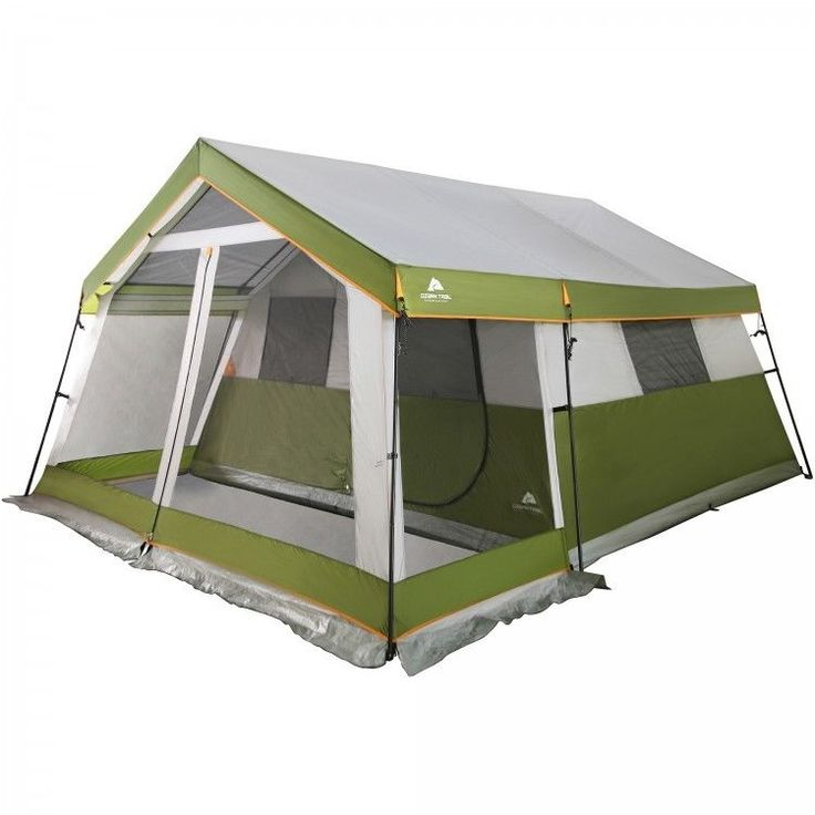 Family Camping Tent Outdoors Fishing Picnic Canopy 8 Person Porch Hiking Green #Porch
