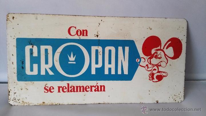 Cartel de chapa de pastelitos CROPAN unico en todocoleccion - Foto 1