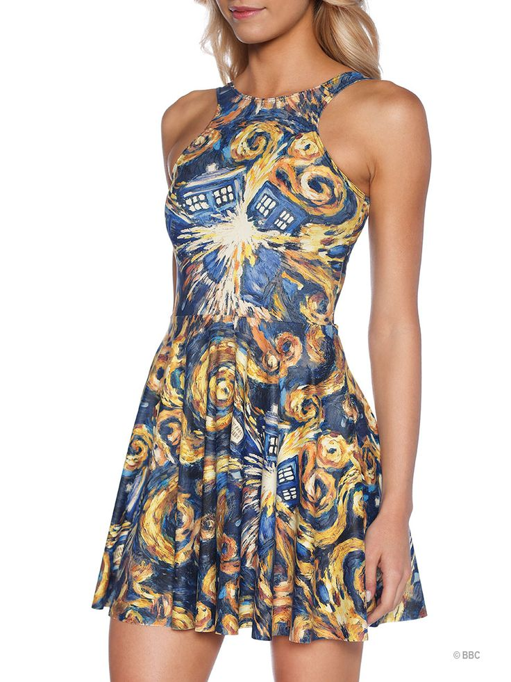 The Pandorica Opens Reversible Skater Dress (WW ONLY $95AUD) by Black Milk Clothing