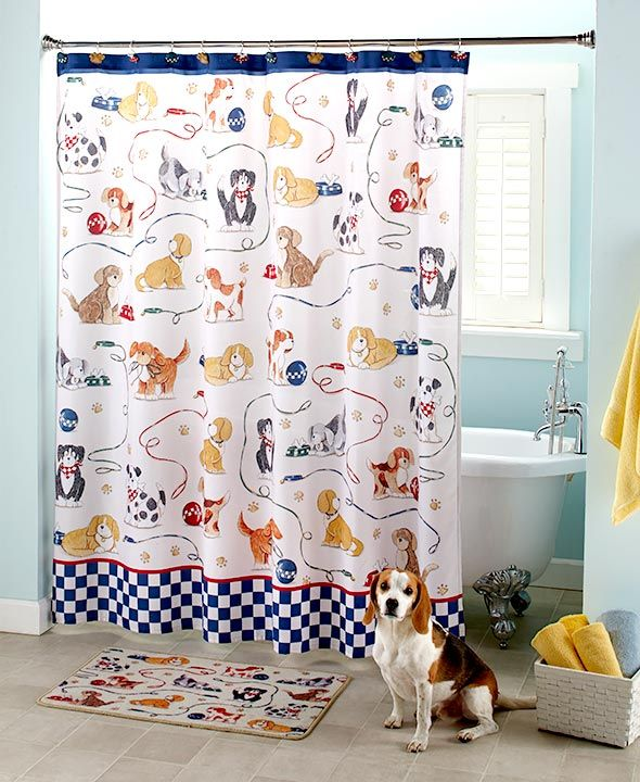 Refresh your bathroom decor with this Playful Dogs Bathroom Collection   Each coordinating item is embellished with different dogs and their  accessories. Best 25  Dog bathroom ideas on Pinterest   Dog potty  Dog backyard