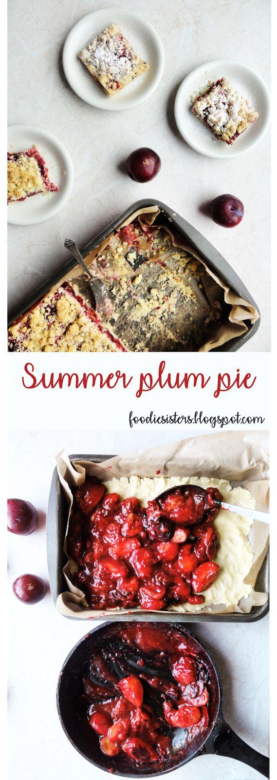 Summer plum pie recipe with cardamom, orange zest and cinnamon.