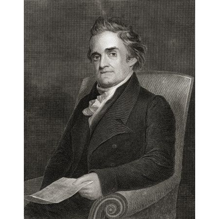 Noah Webster 1758 To 1843 American Lexicographer Author And Editor From 19Th Century Engraving By Kellogg After Morse Canvas Art - Ken Welsh Design Pics (24 x 32)