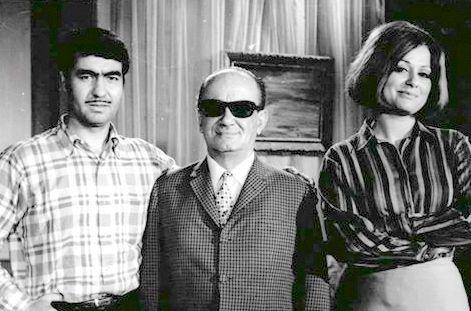 Sema Özcan, Yapımcı Cemil Uyanık, Nuri Sesigüzel  (Kara Yazım 1968) Film seti.