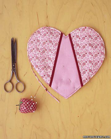 Passo a passo pegador de panela coração em patchwork
