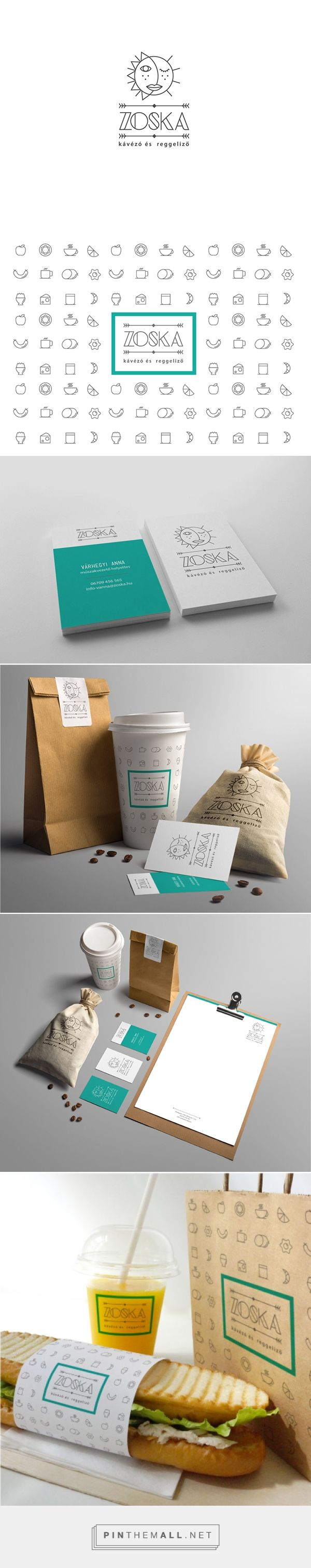 Zoska Coffee packaging on Behance by Balazs Hajnal, Brighton, UK curated by Packaging Diva PD.  Coffee shop branding project for a Hungarian based coffee shop in the capital of Budapest. To create a logo with an additional icon following the latest design trends as well as giving a unique look.
